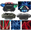 9PCS RGBW 4in1 Triangle Moving Spider Beam Light
