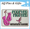 Pin di Awareness del cancro della mammella del metallo per cancro della mammella Fighter (badge-126)