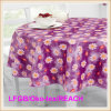 Flannel Backing (TJ0280)를 가진 방수 PVC/PEVA Printed Tablecloth