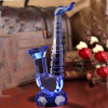 Голубой кристаллический саксофон для подарка или украшения