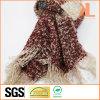 Акриловый шарф повелительницы Качества Striped Широк Соткать способа с краем