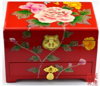 Contenitore di monili cinese della mobilia antica