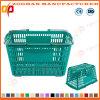 良質の鋼鉄手(Zhb176)を搭載するプラスチックスーパーマーケットの買物かご