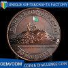 Oro antico e moneta del metallo placcata argento