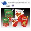 プラスチックBagforのトマトソースの包装を包む立場の袋の液体