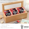 Hongdao nach Maß Hersteller-hölzernes Tee-Geschenk-verpackenkasten mit Partitionen en gros _E