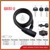 Intelligentes Schlüssellenkrad-Verschluss-Kabel-Kombinationsschloß für Fahrrad-Zubehör