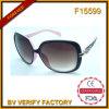 F15599 Zonnebril van de Vrouwen van het Frame van het Merk van Italië de Grote Modieuze