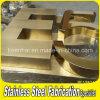 Painéis de letra dourada em aço inoxidável em aço revestido com cor PVD para propaganda