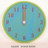 RoHS élégant Wooden Wall Clock dans les forces de défense principale