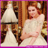 2015 mulheres novas da forma perfuram completamente o vestido de cristal da noiva de Organza do diamante. Vestidos de casamento sexy (WES001)