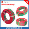 Tuyaux d'air en caoutchouc tressés de fibre verte rouge de Zmte