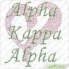 Heart Hotfix Rhinestone Motifs Wholesaler (SP)のアルファKappa Alpha