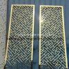 Schermo dell'acciaio inossidabile con oro Colar