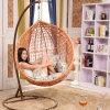 普及した安い価格の藤の振動椅子の藤のハングの卵の椅子(D011)
