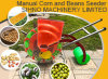 2017 semoirs manuels/planteur de vente de poussée chaude de main pour le maïs/arachide/coton/soja/fèves de mung avec de l'engrais
