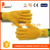 Luva pontilhada PVC do trabalho da laranja de Ddsafety 2017