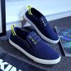 La mode de loisirs de trois de couleurs chaussures de toile folâtre des chaussures de toile du confort des hommes paresseux de chaussures