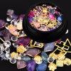새로운 도착한다 Accessoire는 못 훈장 (ND08)를 위한 5개의 상자 못 디자인 혼합 황금 쉘 원석 원형 그리고 수정같은 모조 다이아몬드