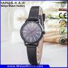 Relojes ocasionales de las mujeres del regalo de la correa de cuero del asunto del OEM del reloj (WY-122C)