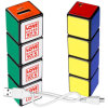 cubo insertable da mágica do banco da potência do cubo