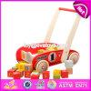 Carrinho para armazenamento de design novo envio de madeira ao longo de brinquedos com blocos W16e067
