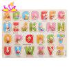 Nouvel Alphabet en bois éducatifs les plus chauds Puzzle Board pour les enfants de 18 M+ W14M106