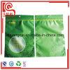 Bolso plano plástico de la impresión en color de la cremallera