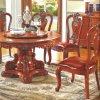 식당 가구를 위한 소파 의자를 가진 둥근 식탁