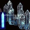 Do Natal moderno do motivo da iluminação da coluna do diodo emissor de luz decoração ao ar livre