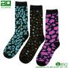 Leopard-Druck-Mann-kundenspezifische Baumwollkleid-Socken
