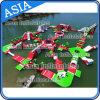 インフレータブルウォーターパーク大会のアクアグライドウォータースライドコンボ
