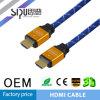 Cavo ad alta velocità dell'audio dell'oro del cavo di Sipu 1.4V HDMI