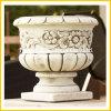 De witte Marmeren Pot van de Tuin van de Steen van het Graniet Antieke