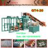 Bloc automatique hydraulique neuf du modèle Qt4-20 faisant la machine