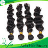 7A等級の加工されていないバージンのインドの毛のRemyの人間の毛髪のよこ糸