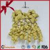 Goldener Funkeln-Stern-Bogen und Culing Farbband-Bogen für Weihnachten