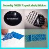 Het Nietige Etiket van de Veiligheid van Levono van de douane; De Duidelijke Nietige Sticker van de stamper
