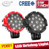 10-30V Round 51W LED Driving Light /Truck LED Offroad Driving Light (PD651)