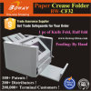 1200 máquina de dobramento de alimentação manual do escritório do meio dobrador do vinco do papel do tamanho de Sheets/H A4 A3