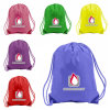 Impreso personalizado Polyester impermeable Bolsa Drawstring Backpack