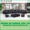Sofá moderno de la sala de estar del cuero del estilo de Divany de la oficina