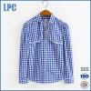 형식 100%Cotton 긴 소매 레이스 검사 여자 셔츠
