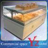 Cabina de visualización de la panadería de la cabina de visualización del pan del escaparate de los pasteles del escaparate de la torta de la cabina de la hornada de la cabina de madera de cabina de cocina de la cabina de visualización de la torta (YZ161009)