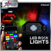 8 Mini9w RGB LED Felsen-Licht Fernsteuerungs-IP68 der Hülse-2inch unter Auto Bluetooth LED Felsen-Licht
