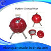Outdoor Colorful Football BBQ Grill Charcoal Churrasco Grill