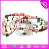 卸し売り安く120人のPCSの子供の教育構築のおもちゃの木のトレインはW04c074を追跡する