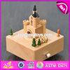 Настроить замок мультфильмов деревянные ящики музыки для детей W07b046