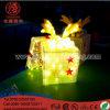 Lumière de motif de boîte-cadeau d'adhérence de colle de décoration de mail de Noël de DEL