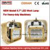 luces cuadradas de las lámparas del trabajo de la inundación del equipo de 10-30volt LED para los carros de los alimentadores de granja